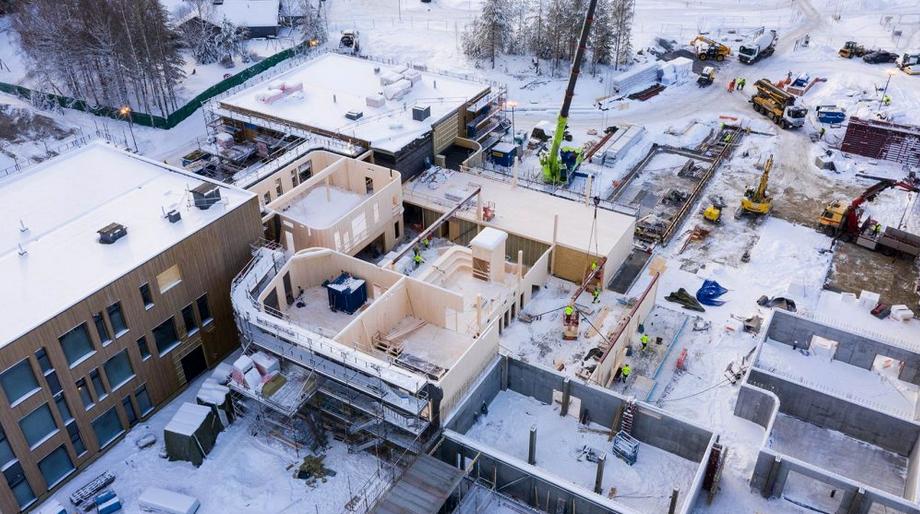 Informasjon og byggeplassbefaring nye Flesberg Skole på Stevningsmogen